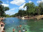 Barton Springs pool, 2 min by car, 4 min by bike
