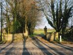 Main gates to our front drive on the Foss-Way between Stow and Moreton.