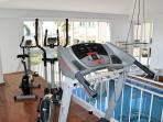 Fitness room in indoor pool