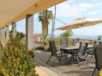 Front terrace & view