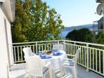 beautifully sea view in quiet area surrounded with  garden..