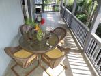 Outdoor lanai dining table