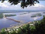 View From Buena Vista Overlooking Alma and Lock & Dam #4