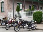 2014 Visitors enjoying their Vintage Bikes