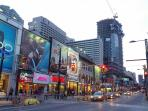 The longest street in the world, Toronto's main street, Yonge St. is just 50 metres away