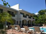 Hacienda private pool front view