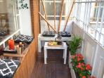Our door terrace perfect for coffee in the morning