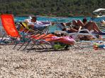 Apartment Sinkic Pirovac 2, Croatia are situated directly on the gravel beach Lolic