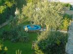 Look at the garden from our balcony Sinkic Apartment No. 2