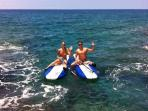 Enjoy water activities with ocean access in front of the house.