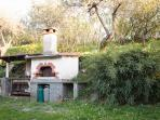 Bbq and stone oven