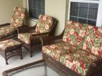 Villa Sogna Lanai Furniture with New Cushions