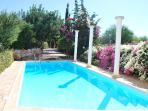The large private pool of the villa DIONYSUS TRANQUIL