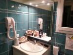 Family bathroom upstairs with hairdryer