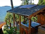 Cedar pavilion with the best hot tub on the Sunshine Coast!