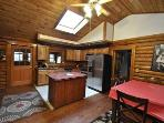Stainless Steen Grand Log Home Kitchen