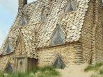 Shell cottage as seen in Harry Potter, Freshwater West, Pembrokeshire just 50 minutes from Vijaygard