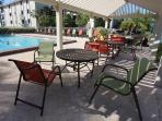 Pool - with 4 Weber gas grills