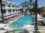 Pool Deck with Free Fresh Beach Towels Daily Poolside