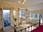 1 of 10 bedrooms, ensuite, balcony for relaxing, overlooking the sea and the garden