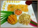 Fresh fruits plate..