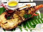 Grill lobster..