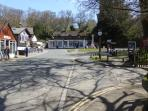 Burley village centre with cycle hire, riding stables, tea rooms and pub - approx 1 mile