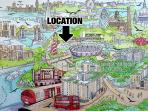 Artists' illustration of the location.