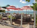 Dining on the sea! Al Fresco restaurant .