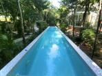 Resistance pool for lap swimming.