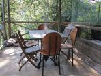 The deck for breakfasts, sundowners and watching the birds and buck in their natural habitat