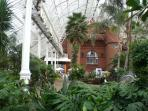 Winter Garden in Glasgow Green. 12 minutes walk.