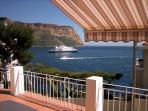 Vue de la terrasse face mer et Cap Canaille