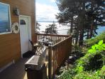 your own deck with 180 degree view of the water with BBQ