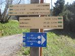 Distances to places from Chalet