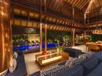 Outdoor living and dining at Villa Windu Sari by Windu Villas