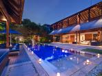 Poolside at Villa Windu Sari by Windu Villas