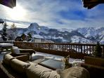Enjoy a stunning view over the Alps whilst enjoying a lovely glass of Champagne.