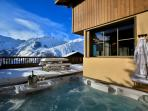 Unwind and relax in a wonderful hot tub. Nothing beats it after a long day of skiing!