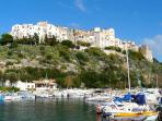 Sperlonga's ancient whitewashed houses are clustered around a precipitous rocky crag