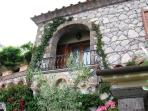 Villa balcony sorrento esposito house with private swimming pool, garden car parking and ocean view