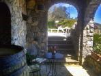 Sorrentobookingvillas patio relax point at villa esposito iin sorrento coast with private rock pool