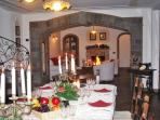 Villa special christmas eve at sorrento coast with living area fireplace holiday accommodation italy