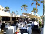 Our favourite... the Beach House Marbella. Luxurious beach restaurant, 10 mins from the penthouse