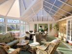 Conservatory leading through to snooker room
