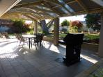Pergola, BBQ and back garden