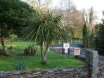The well maintained gardens at Rosecraddoc