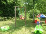 Children's play area under the apple tree