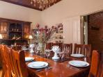 Dining room with seating for 12
