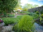 The pond and lawns